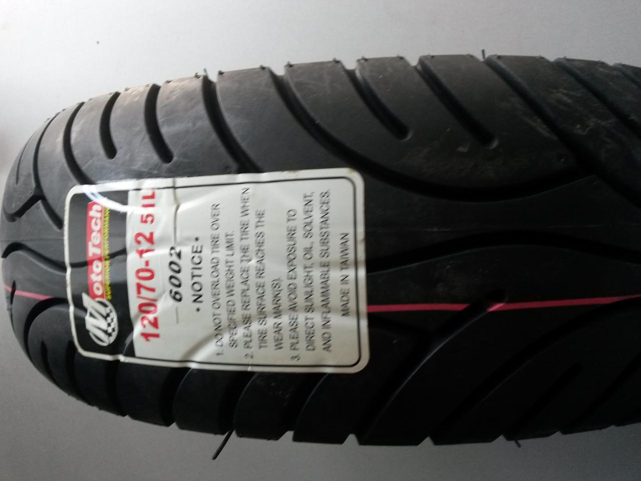 Резина 120/70-12 TL (6002) Boss/MotoTech