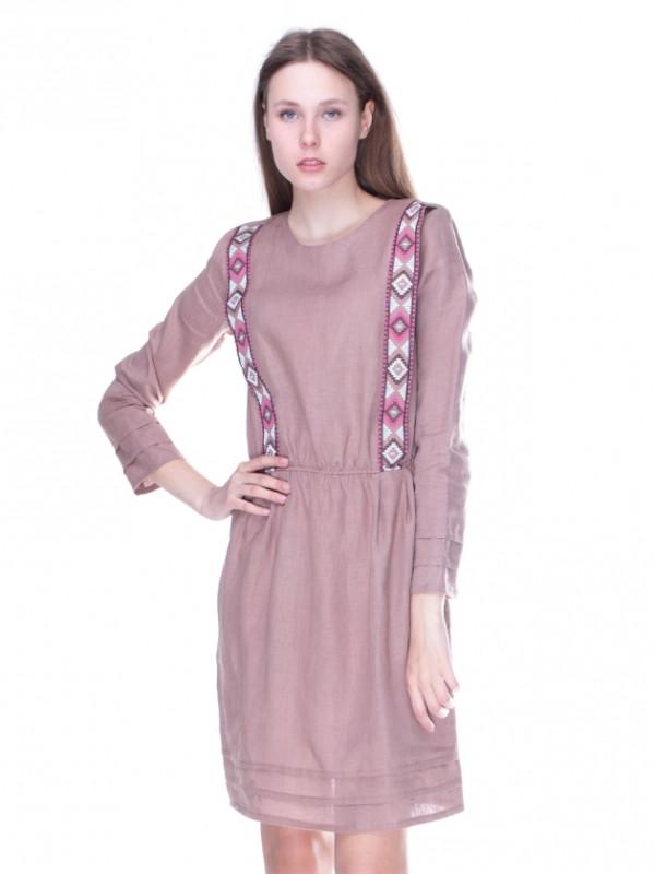 Вышитое платье на льне b2ab25486f604