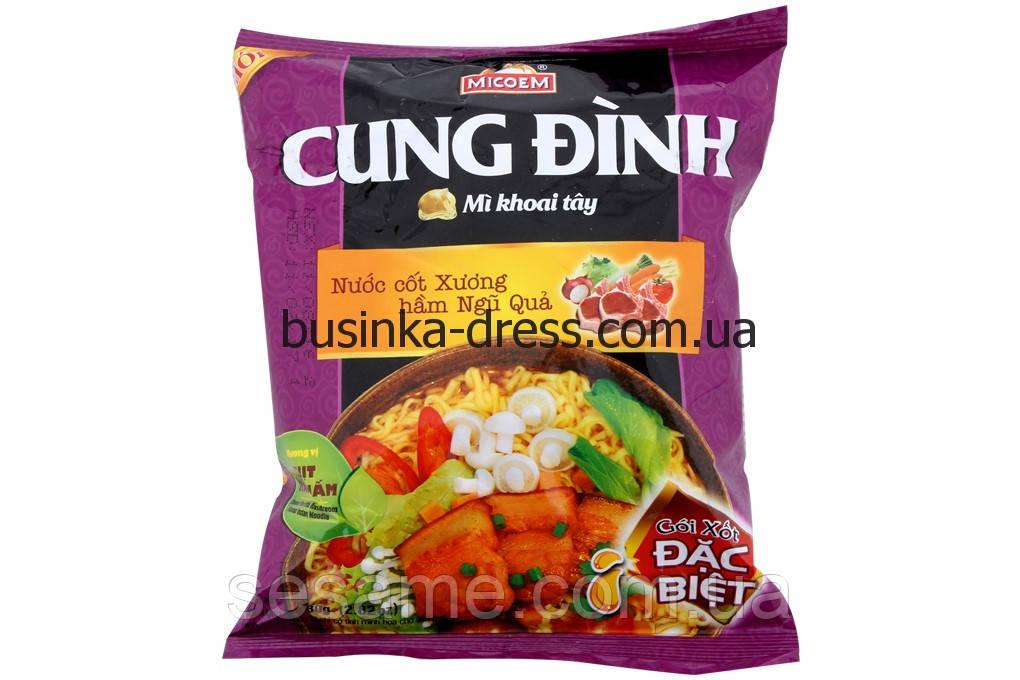 Локшина картопляна швидкого приготування Cung Dinh свинина з грибами 80г (В'єтнам)