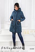 Зимняя куртка на холлофайбере для полных джинс