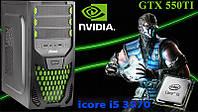 Отличный Игровой ПК ZEVS PC7540M i5 3570 + GTX550TI 1GB +Клавиатура +Мышка!
