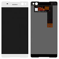 Дисплей (экран) для Sony E5506 Xperia C5 Ultra/E5533/E5553/E5563 + с сенсором (тачскрином) белый Оригинал