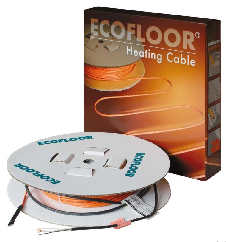 Теплый пол в стяжку под ламинат, кафель 3,9-4,6 м.кв. 570 Вт. Одножильный кабель Fenix. Гарантия 15 лет.