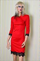 """Красное Коктейльное Платье  """"Beauty"""""""