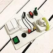"Развивающая доска для детей ""Busy Board"", по методики Монтессори, размер 15х20, материал ДСПламинир"
