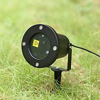Лазерный уличный проектор с рисунками на 4 цвета