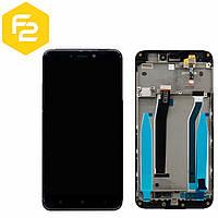 Redmi 4x Дисплейний модуль Xiaomi в зборі ЧОРНИЙ (экран+сенсор+рамка/каркас)