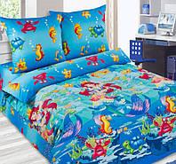 Детское постельное белье в кроватку Морская сказка, поплин 100%хлопок