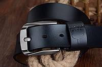 Ремень мужской кожаный классический COWATHER модель D (черный)