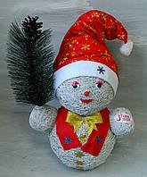 Декоративний сніговик 40 см Декоративный снеговик