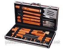 Набор для барбекю в кейсе 18 предметов с деревянной ручкой Lefard