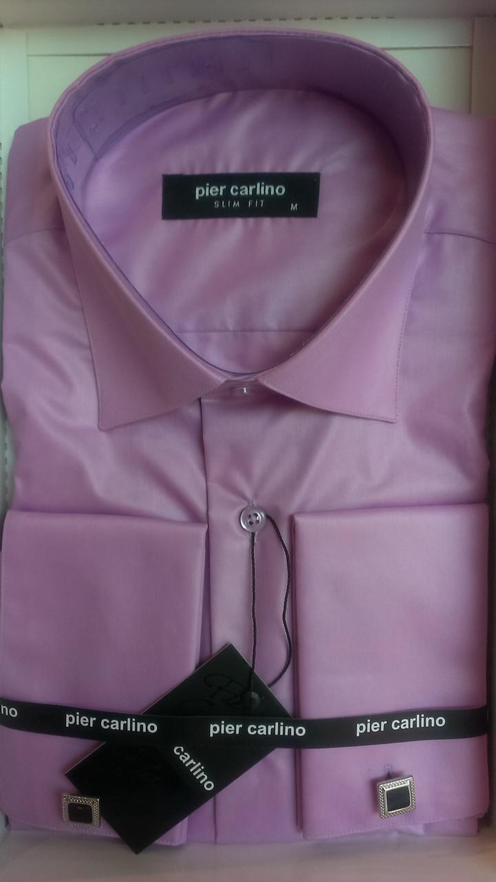 Рубашка приталенная запонку Pierre Pasolini фикус