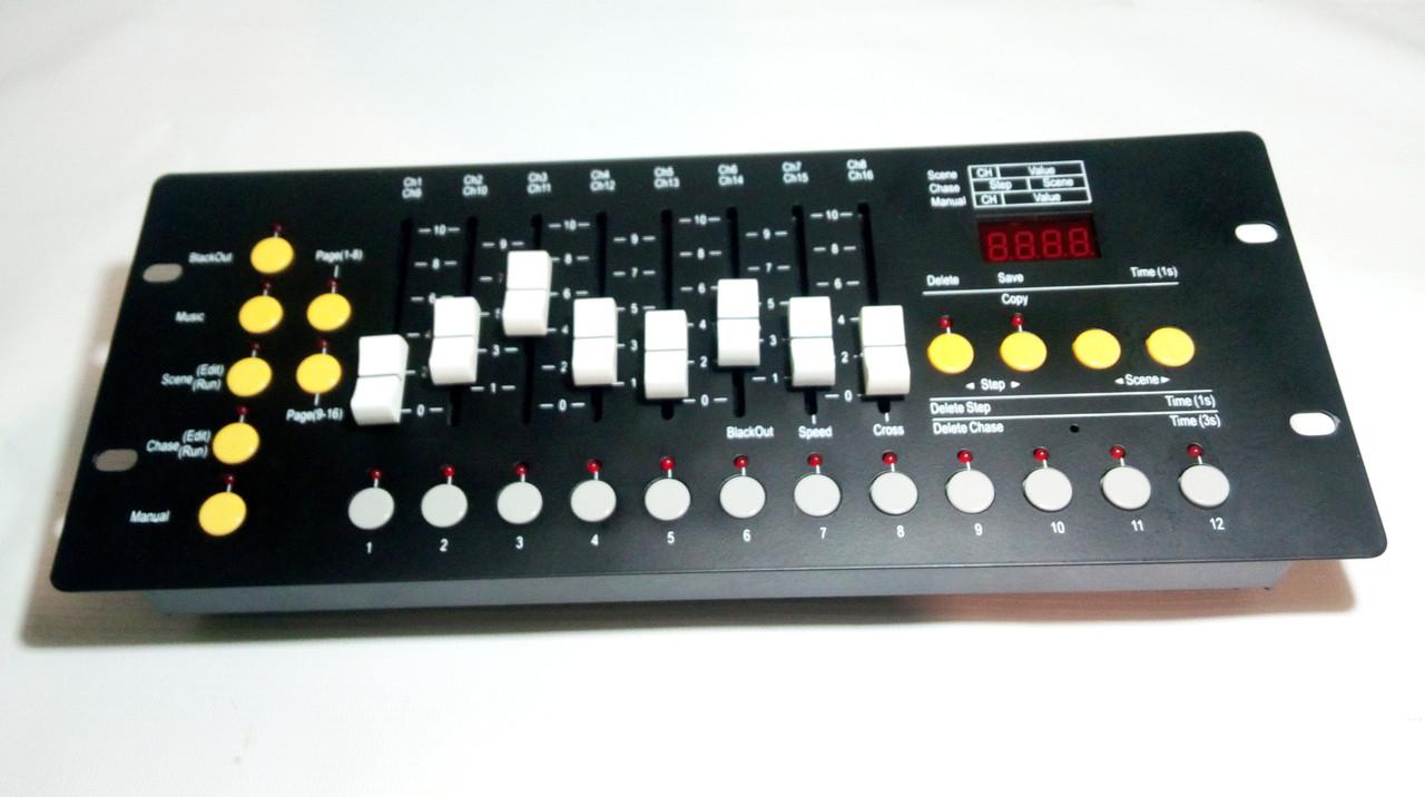 Контроллер подключения световых приборов и спецэффектов DMX