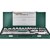 """Набор инструментов Jonnesway 1/2"""" DR 8-34 мм (24 предмета)"""