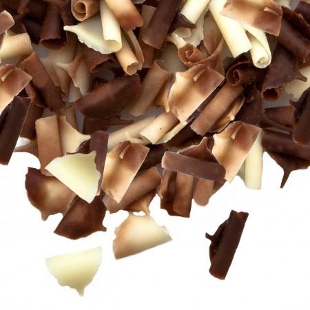 Шоколадна посипка пелюстки подвійні (білий та чорний шоколад) та карамель 2.5 кг Barbara Luijckx