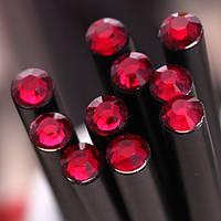 Оригинальный и модный простой карандаш черного цвета с красным кристаллом, фото 1