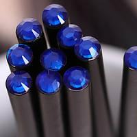 Оригинальный и модный простой карандаш черного цвета с синим кристаллом
