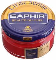 Увлажняющий крем для обуви Saphir Creme Surfine красный (11) 50 мл