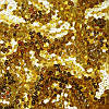 Паеточная ткань мелкая гладь золото
