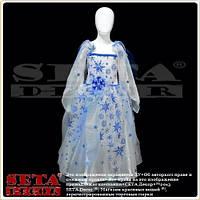 Платье Снежная Королева с брошью детское