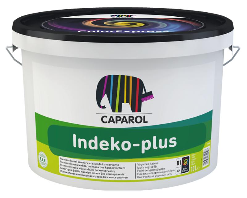 Краска высокоукрывистая CAPAROL INDEKO-PLUS для потолков, B1-белая, 10л
