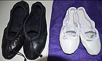 Балетки кожаныеVA GROUP черные, белые