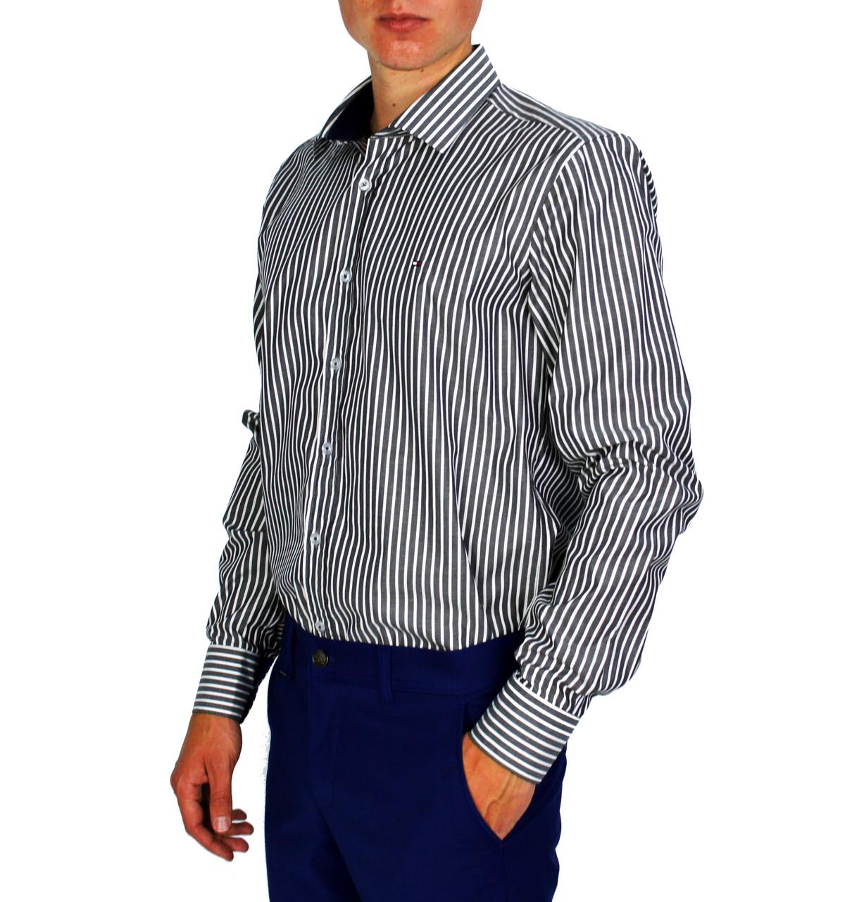 fe03e9a25c1 Полосатая мужская рубашка классическая TOMMY