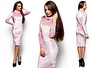 Велюровое платье Орнелла для женщин (42-48 в расцветках)
