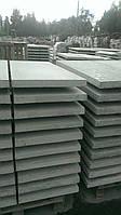Парапет бетонный на забор 310х1250х40 мм Плоский серый
