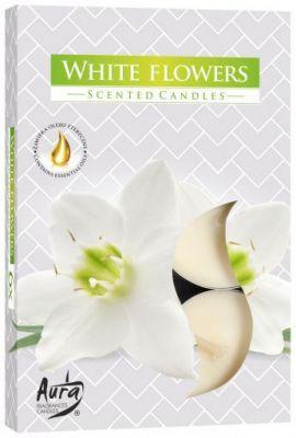 Ароматические  свечи-таблетки Белые цветы Bispol