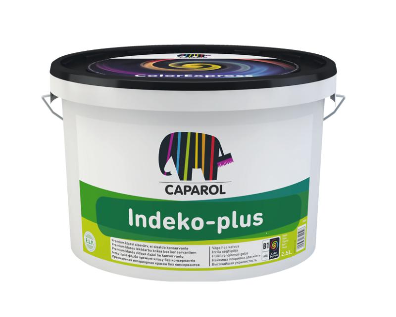 Краска высокоукрывистая CAPAROL INDEKO-PLUS для потолков, B1-белая, 2,5л