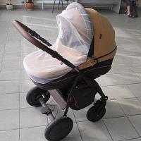 Универсальная москитная сетка на детскую коляску на резинке по периметру 90х50 3966 Белый