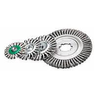 Щетка дисковая 178 х 22,2 мм; скрученная жгутами стальная проволока 0,8 мм; 12500 об/мин LESSMANN