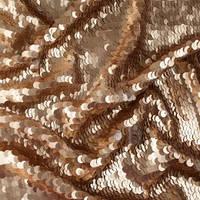 Паеточная ткань мелкая медная