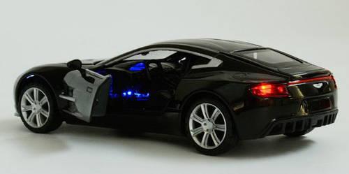 Машинка DieCast Aston Martin (1:32) черная (55319)
