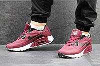 Кроссовки Nike Air Max мужские (бордовые), ТОП-реплика, фото 1