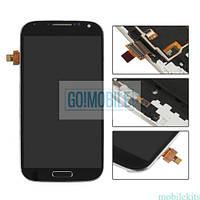 Дисплей + сенсор (модуль) Samsung i9500/S4 черный, Black Edition оригинал (Китай) + рамка