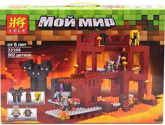 Конструктор LELE Minecraft My World 33108, 502 дет.