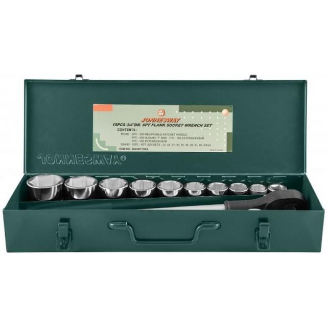 """Набор инструментов Jonnesway 3/4"""" DR 22-50 мм 15 пр."""