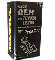Трансмиссионное масло Mannol ATF O.E.M. for Toyota Lexus Type T-IV METALL 1л