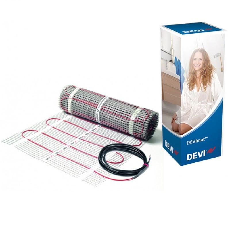 Тёплый пол без стяжки под ламинат, кафель 9,0 м.кв. 1350Вт. нагревательные маты DEVI comfort 150T