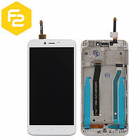 Экран дисплей Xiaomi Redmi 4x Белый, рамка + модуль LCD + сенсор