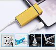 Электроимпульсная USB зажигалка WEXT Amethyst золотая матовая, фото 2