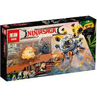 """Конструктор Ninjago Movie Lepin 06062 (аналог Lego 70610) """"Летающая подводная лодка"""" 368 дет"""