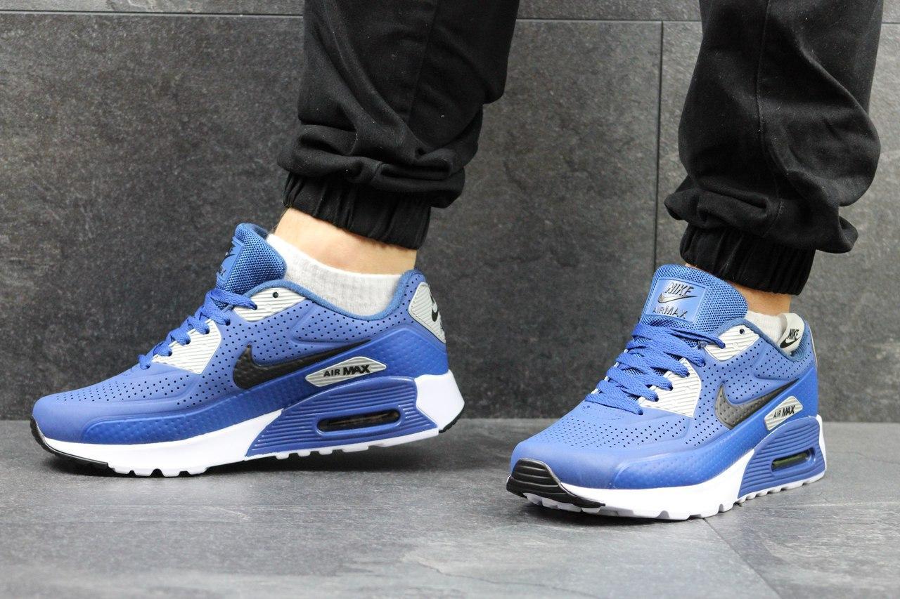 Кроссовки Nike Air Max мужские (синие), ТОП-реплика