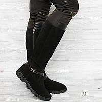 Сапоги кожаные черные оптом Днепр