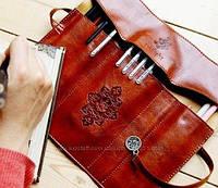 Стильный и компактный пенал-кофр Сумерки, коричневый, фото 1