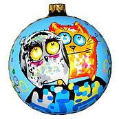 Елочные игрушки. Новогодние шары. Елочные украшения. Новогодние игрушки.  Елочные шары. Кот и сова