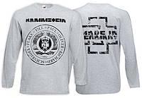 Футболка длинный рукав RAMMSTEIN - Made In Germany - серая