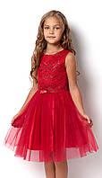Нарядное платье для девочки, красное